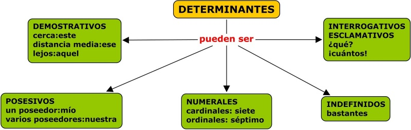 Resultado de imagen de LOS DETERMINANTES QUINTO